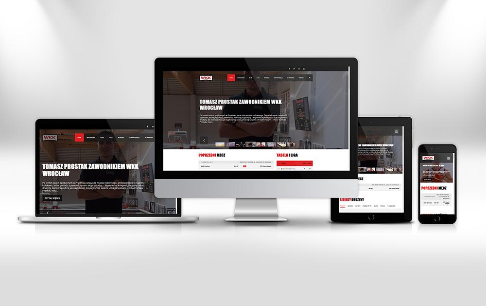 Wrocławski Klub Koszykówki Portfolio Strona Internetowa