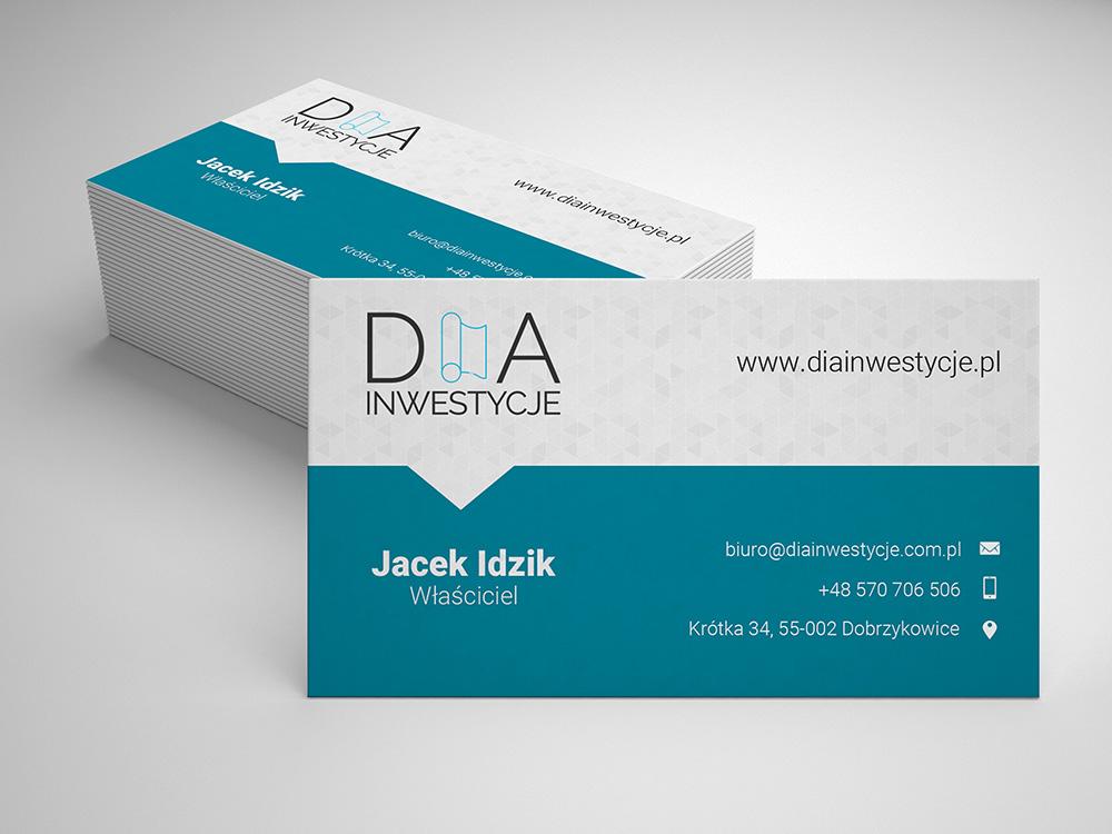 Wizytówki_DIA_Inwestycje_Jacek_Idzik_Przód_portfolio